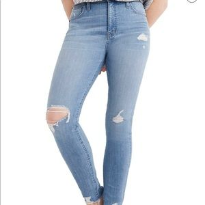 Madewell 9-Inch High Waist Ripped Skinny Jeans